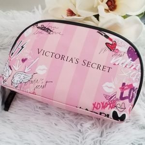 Victoria's Secret Graffiti City print cosmetic bag